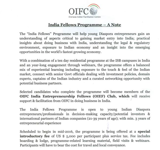 India Fellows Programme