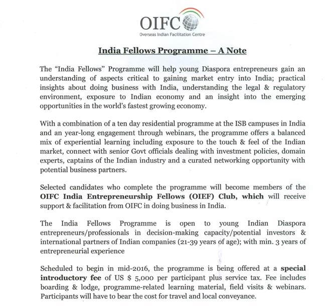 India Fellows Programme